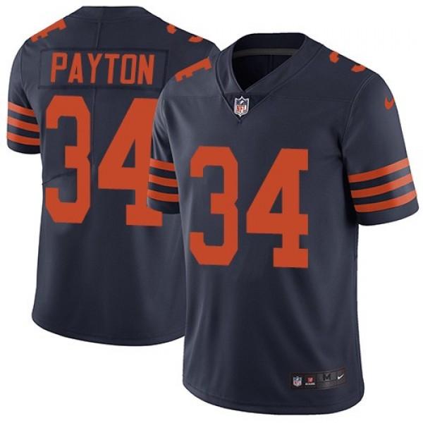 Nike Bears #34 Walter Payton Navy Blue Alternate Men's Stitched NFL Vapor Untouchable Limited Jersey