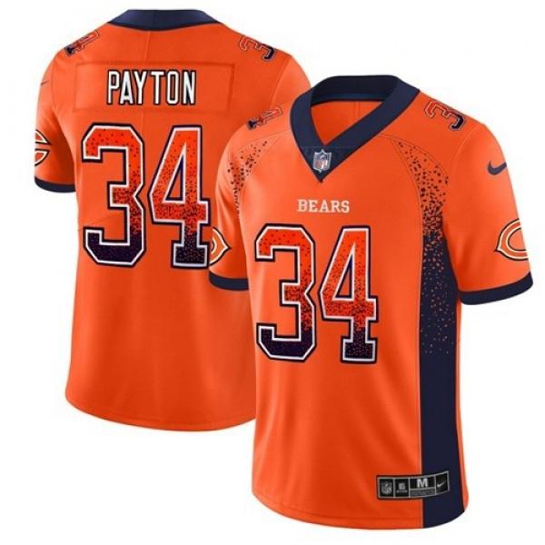 Nike Bears #34 Walter Payton Orange Alternate Men's Stitched NFL Limited Rush Drift Fashion Jersey