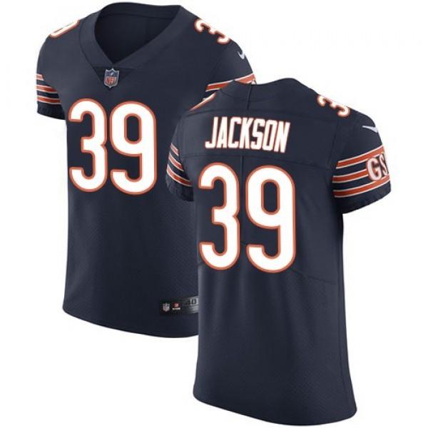 Nike Bears #39 Eddie Jackson Navy Blue Team Color Men's Stitched NFL Vapor Untouchable Elite Jersey