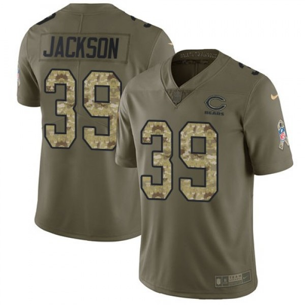Nike Bears #39 Eddie Jackson Olive/Camo Men's Stitched NFL Limited 2017 Salute To Service Jersey