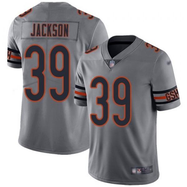 Nike Bears #39 Eddie Jackson Silver Men's Stitched NFL Limited Inverted Legend Jersey