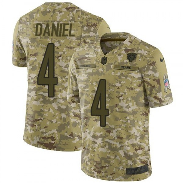 Nike Bears #4 Chase Daniel Camo Men's Stitched NFL Limited 2018 Salute To Service Jersey