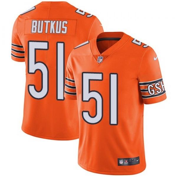 Nike Bears #51 Dick Butkus Orange Men's Stitched NFL Limited Rush Jersey