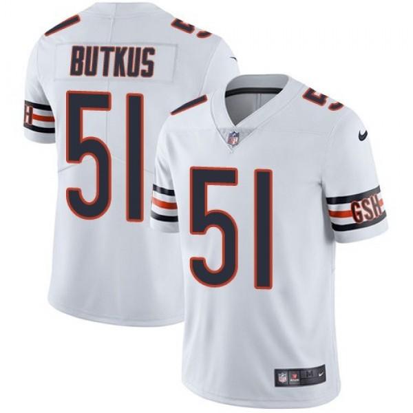 Nike Bears #51 Dick Butkus White Men's Stitched NFL Vapor Untouchable Limited Jersey