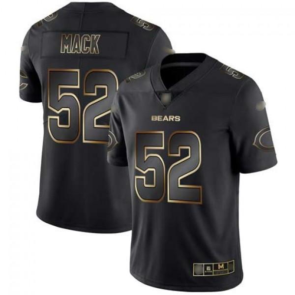 Nike Bears #52 Khalil Mack Black/Gold Men's Stitched NFL Vapor Untouchable Limited Jersey