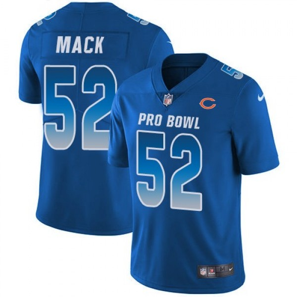 Nike Bears #52 Khalil Mack Royal Men's Stitched NFL Limited NFC 2019 Pro Bowl Jersey