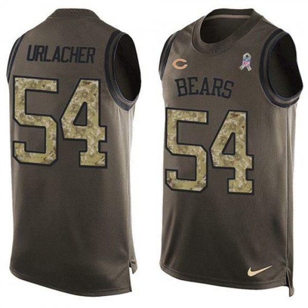 Nike Bears #54 Brian Urlacher Green Men's Stitched NFL Limited Salute To Service Tank Top Jersey