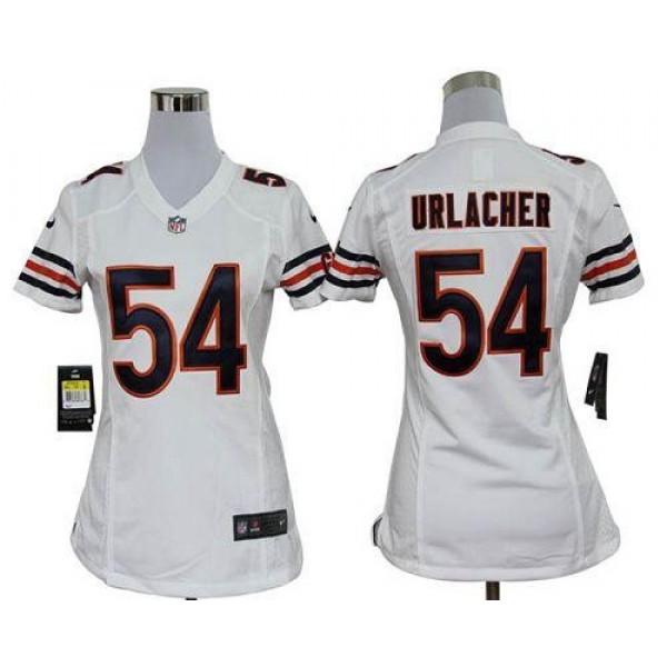 Women's Bears #54 Brian Urlacher White Stitched NFL Elite Jersey