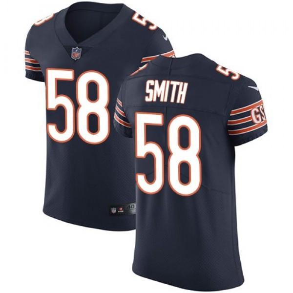Nike Bears #58 Roquan Smith Navy Blue Team Color Men's Stitched NFL Vapor Untouchable Elite Jersey