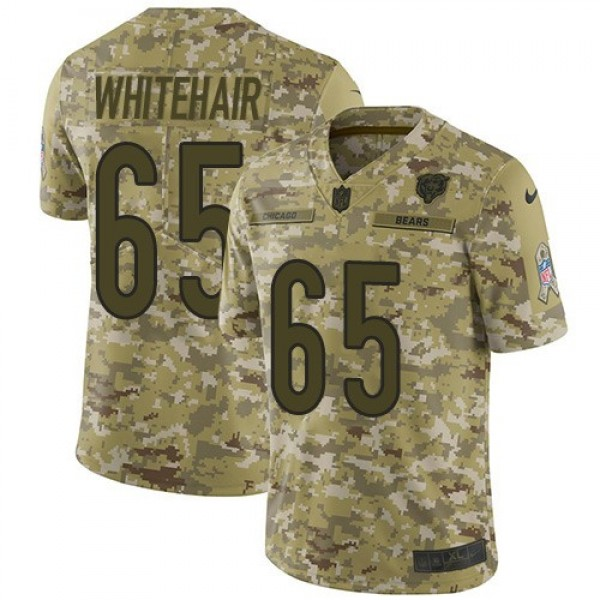 Nike Bears #65 Cody Whitehair Camo Men's Stitched NFL Limited 2018 Salute To Service Jersey