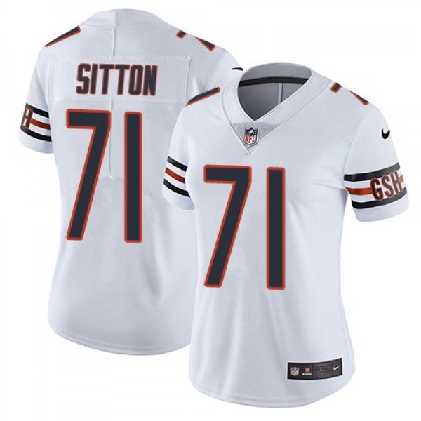 Women's Bears #71 Josh Sitton White Stitched NFL Vapor Untouchable Limited Jersey
