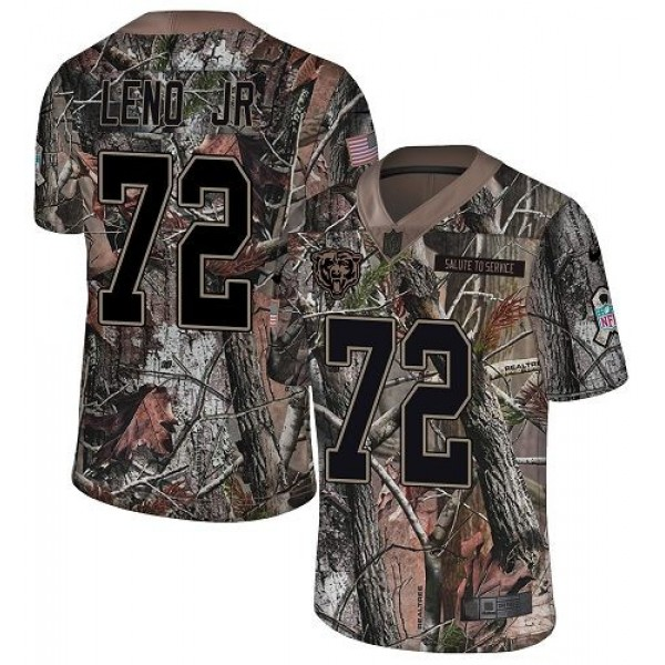 Nike Bears #72 Charles Leno Jr Camo Men's Stitched NFL Limited Rush Realtree Jersey
