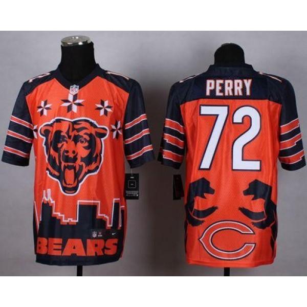 Nike Bears #72 William Perry Orange Men's Stitched NFL Elite Noble Fashion Jersey
