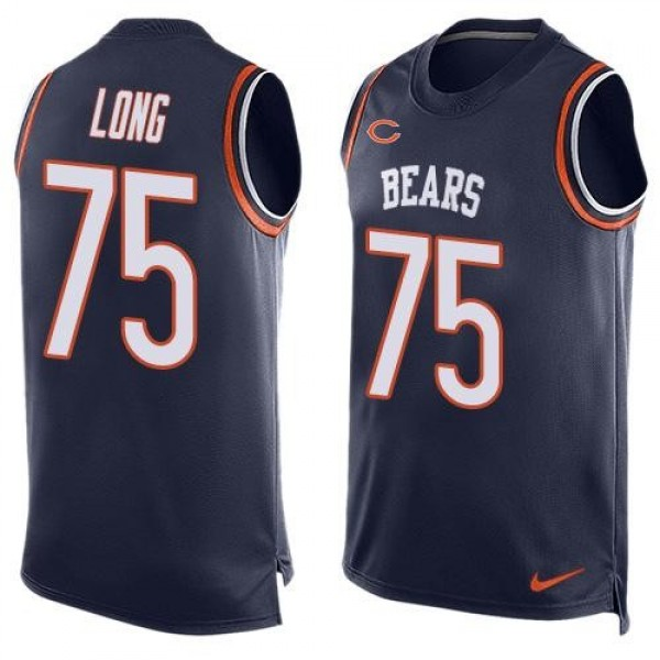 Nike Bears #75 Kyle Long Navy Blue Team Color Men's Stitched NFL Limited Tank Top Jersey