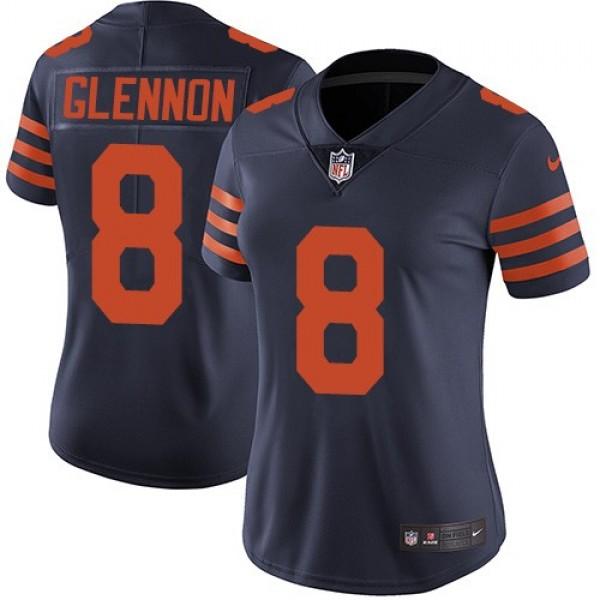 Women's Bears #8 Mike Glennon Navy Blue Alternate Stitched NFL Vapor Untouchable Limited Jersey