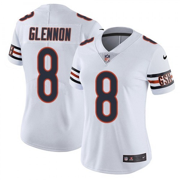 Women's Bears #8 Mike Glennon White Stitched NFL Vapor Untouchable Limited Jersey