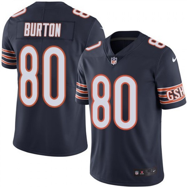 Nike Bears #80 Trey Burton Navy Blue Team Color Men's Stitched NFL Vapor Untouchable Limited Jersey