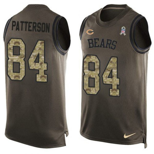 Nike Bears #84 Cordarrelle Patterson Green Men's Stitched NFL Limited Salute To Service Tank Top Jersey