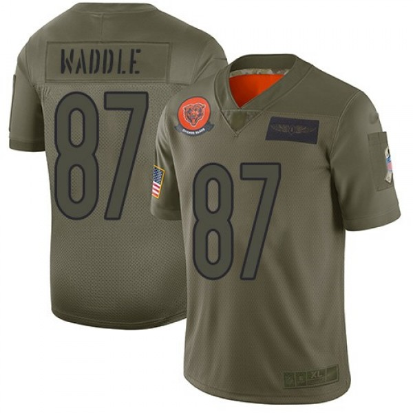 Nike Bears #87 Tom Waddle Camo Men's Stitched NFL Limited 2019 Salute To Service Jersey