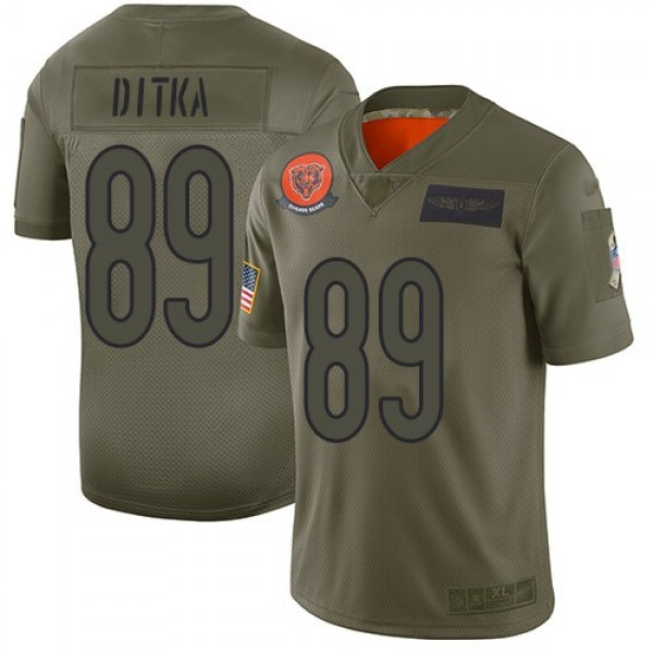 Nike Bears #89 Mike Ditka Camo Men's Stitched NFL Limited 2019 Salute To Service Jersey