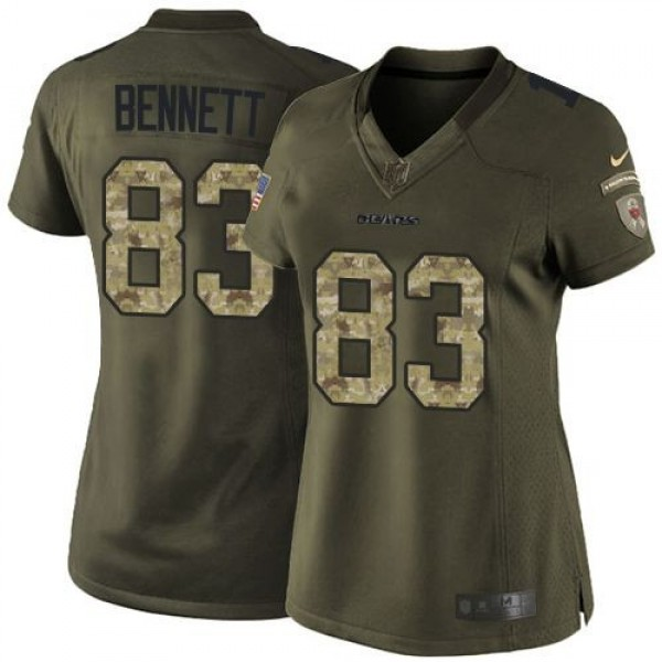 Women's Bears #89 Mike Ditka Green Stitched NFL Limited Salute to Service Jersey