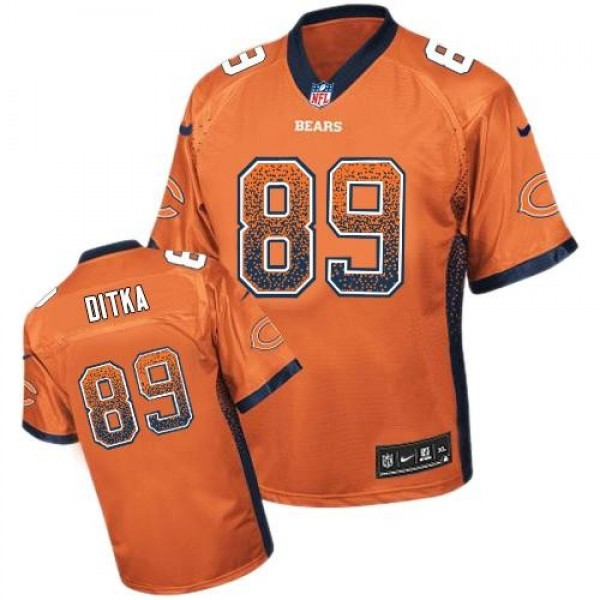 Nike Bears #89 Mike Ditka Orange Alternate Men's Stitched NFL Elite Drift Fashion Jersey