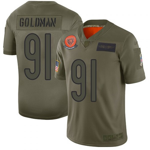 Nike Bears #91 Eddie Goldman Camo Men's Stitched NFL Limited 2019 Salute To Service Jersey