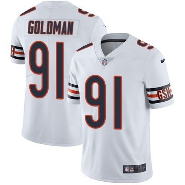 Nike Bears #91 Eddie Goldman White Men's Stitched NFL Vapor Untouchable Limited Jersey