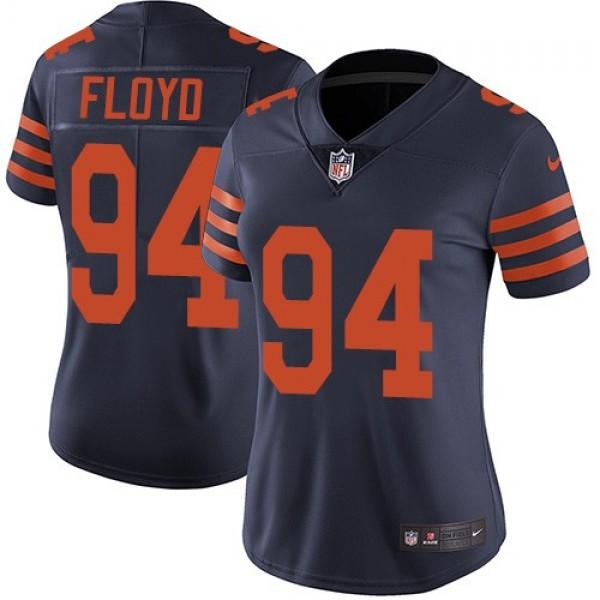 Women's Bears #94 Leonard Floyd Navy Blue Alternate Stitched NFL Vapor Untouchable Limited Jersey