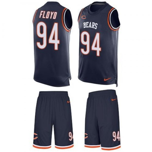 Nike Bears #94 Leonard Floyd Navy Blue Team Color Men's Stitched NFL Limited Tank Top Suit Jersey