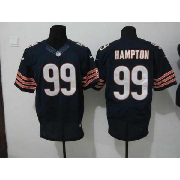 Nike Bears #99 Dan Hampton Navy Blue Team Color Men's Stitched NFL Elite Jersey