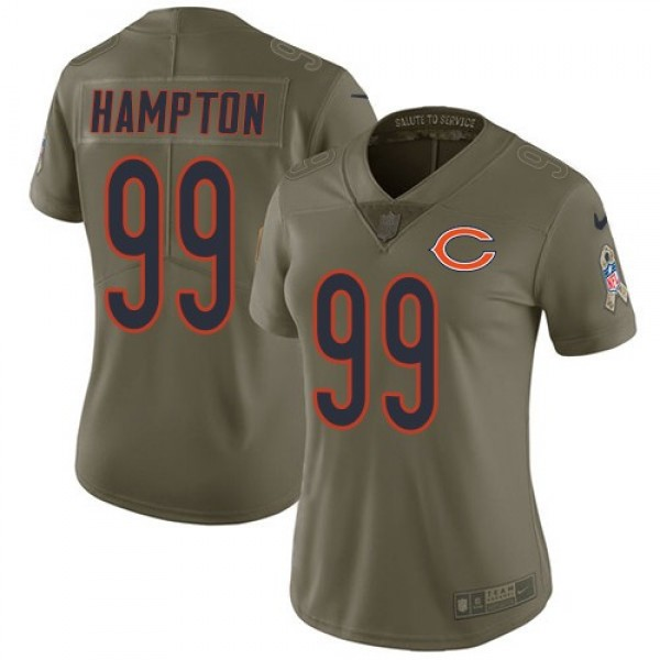 Women's Bears #99 Dan Hampton Olive Stitched NFL Limited 2017 Salute to Service Jersey