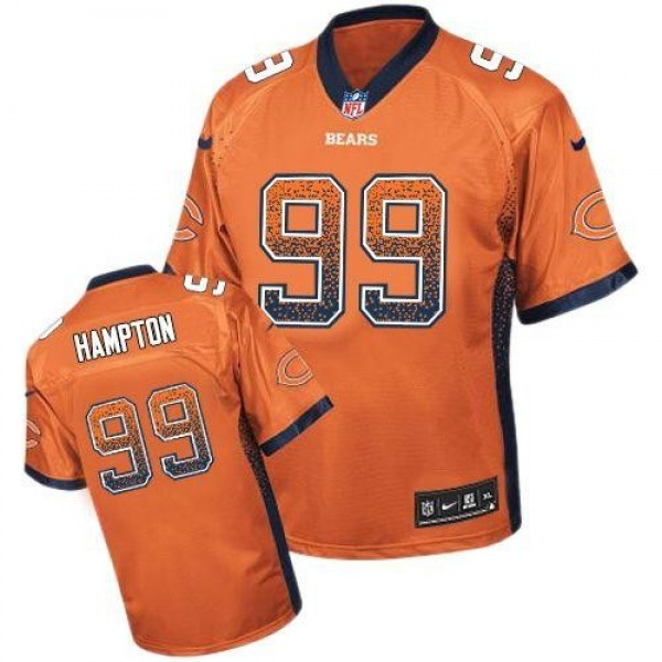 Nike Bears #99 Dan Hampton Orange Alternate Men's Stitched NFL Elite Drift Fashion Jersey