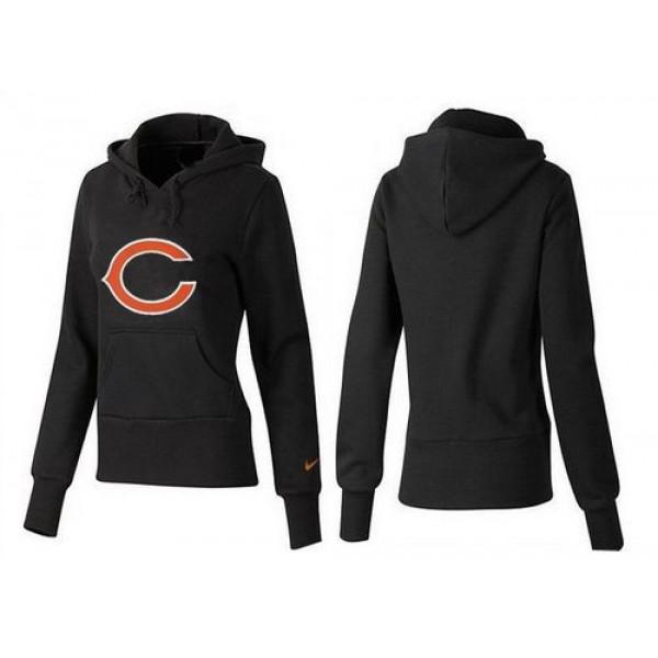Women's Chicago Bears Logo Pullover Hoodie Black Jersey