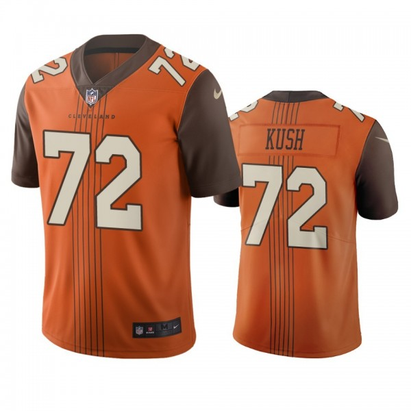 Cleveland Browns #72 Eric Kush Brown Vapor Limited City Edition NFL Jersey