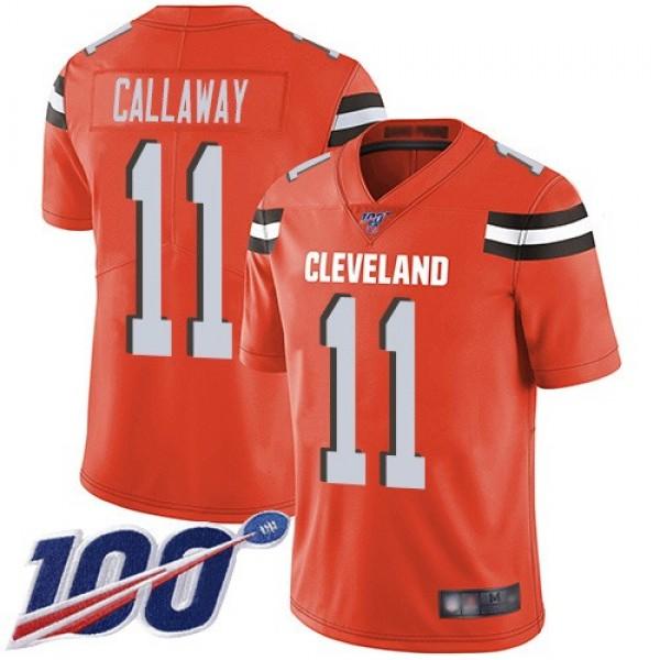 Nike Browns #11 Antonio Callaway Orange Alternate Men's Stitched NFL 100th Season Vapor Limited Jersey