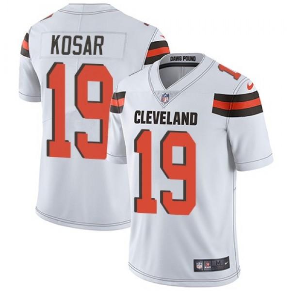 Nike Browns #19 Bernie Kosar White Men's Stitched NFL Vapor Untouchable Limited Jersey