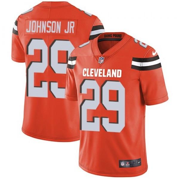Nike Browns #29 Duke Johnson Jr Orange Alternate Men's Stitched NFL Vapor Untouchable Limited Jersey