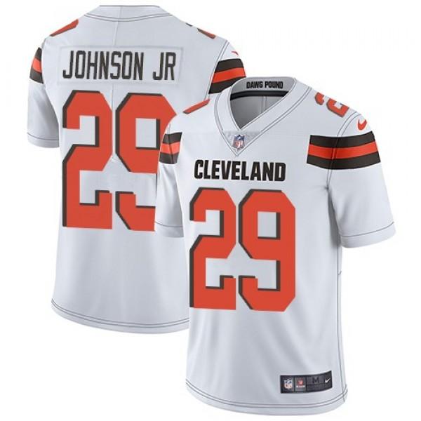 Nike Browns #29 Duke Johnson Jr White Men's Stitched NFL Vapor Untouchable Limited Jersey