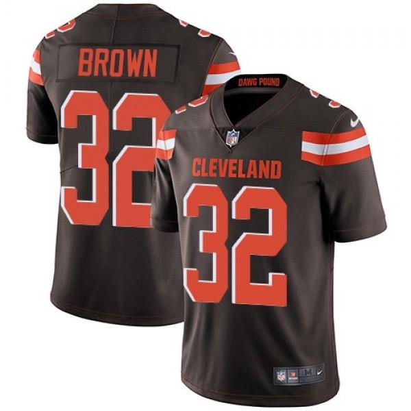 Nike Browns #32 Jim Brown Brown Team Color Men's Stitched NFL Vapor Untouchable Limited Jersey