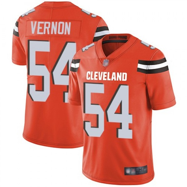 Nike Browns #54 Olivier Vernon Orange Alternate Men's Stitched NFL Vapor Untouchable Limited Jersey
