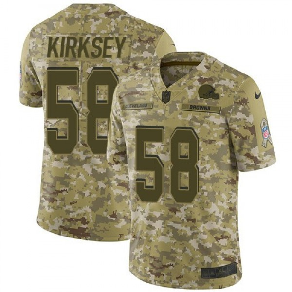 Nike Browns #58 Christian Kirksey Camo Men's Stitched NFL Limited 2018 Salute To Service Jersey