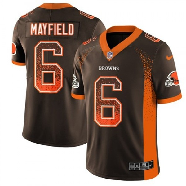 Nike Browns #6 Baker Mayfield Brown Team Color Men's Stitched NFL Limited Rush Drift Fashion Jersey