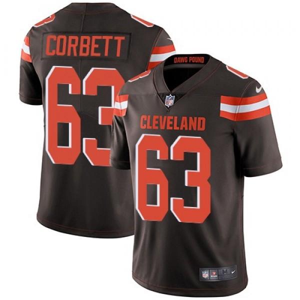 Nike Browns #63 Austin Corbett Brown Team Color Men's Stitched NFL Vapor Untouchable Limited Jersey