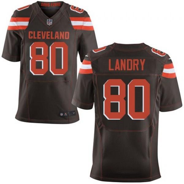 Nike Browns #80 Jarvis Landry Brown Team Color Men's Stitched NFL Elite Jersey