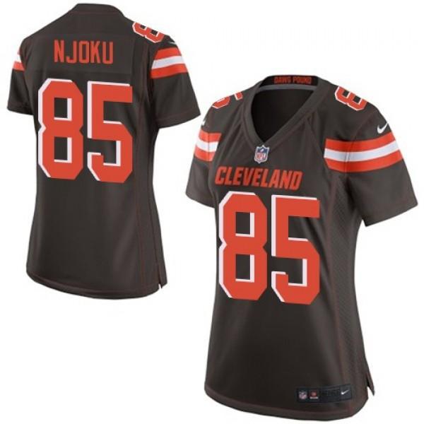 Women's Browns #85 David Njoku Brown Team Color Stitched NFL New Elite Jersey