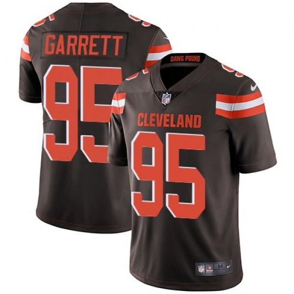 Nike Browns #95 Myles Garrett Brown Team Color Men's Stitched NFL Vapor Untouchable Limited Jersey