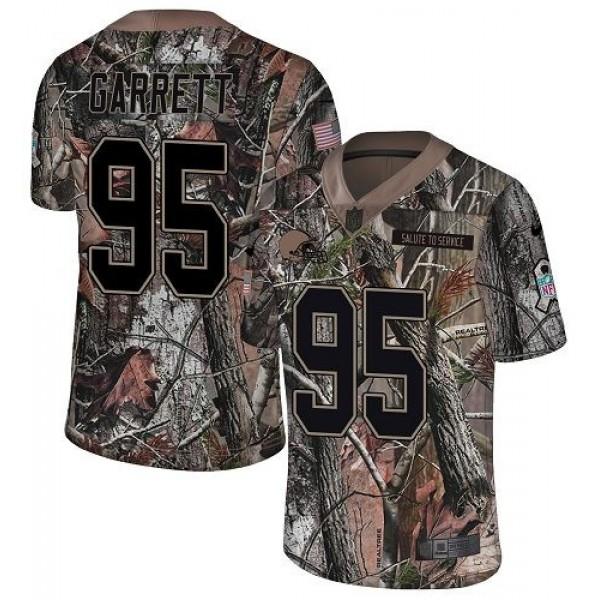 Nike Browns #95 Myles Garrett Camo Men's Stitched NFL Limited Rush Realtree Jersey