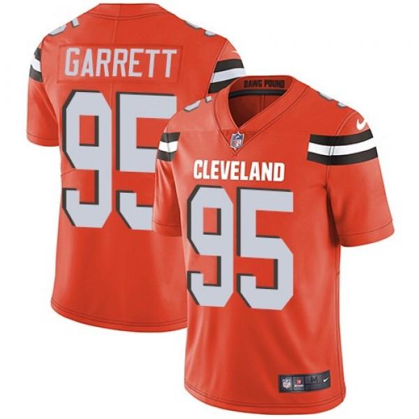 Nike Browns #95 Myles Garrett Orange Alternate Men's Stitched NFL Vapor Untouchable Limited Jersey