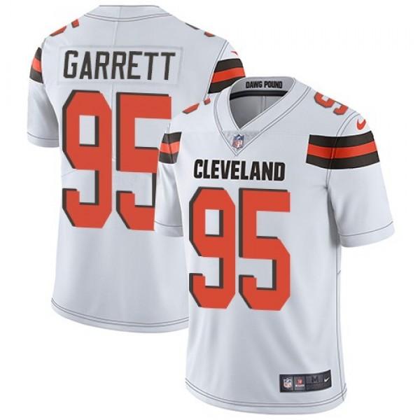 Nike Browns #95 Myles Garrett White Men's Stitched NFL Vapor Untouchable Limited Jersey